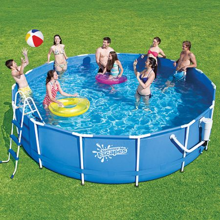 Summer Escapes 15' metal frame pool