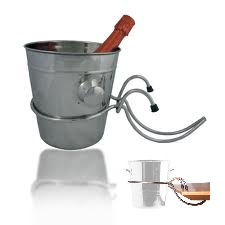 DISCONTINUED - SS CHAMPAGNE BUCKET AND HOLDER