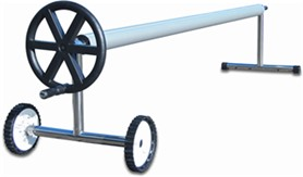 Solar cover rollers, type roll-away